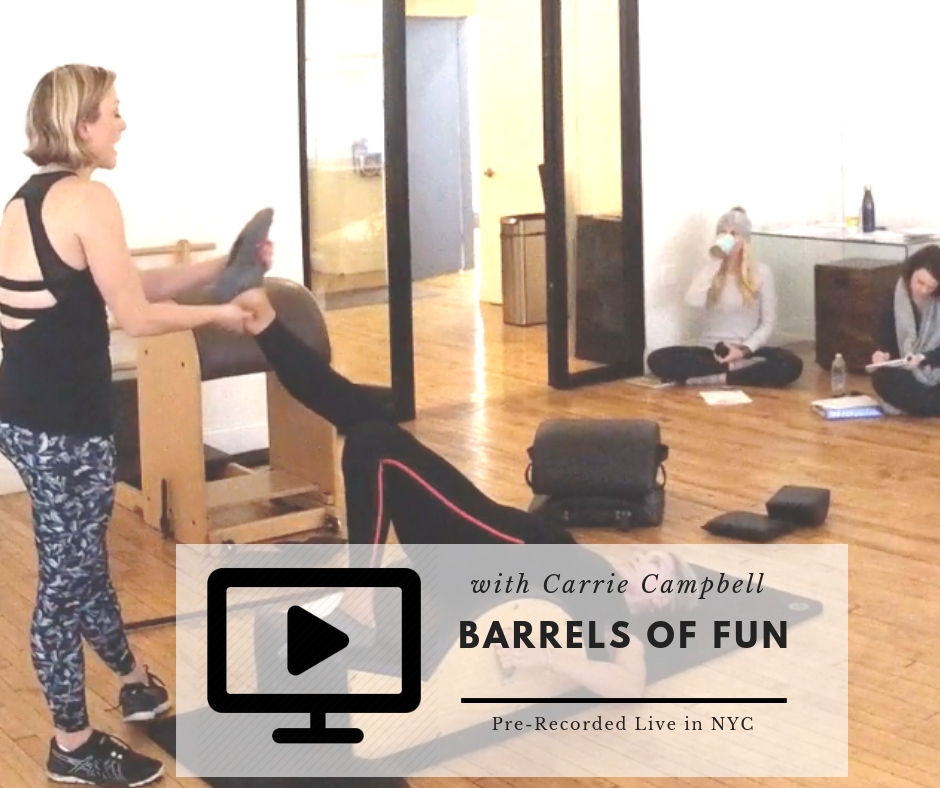 Workshop on how to teach on the Pilates Barrels
